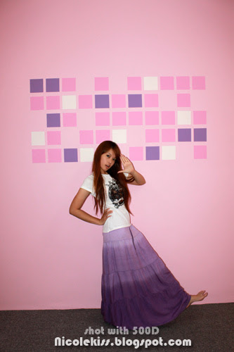 posing with my wall artwork 2