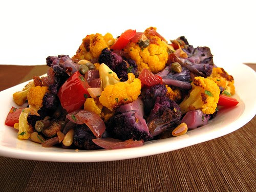 roasted cauliflower caponata
