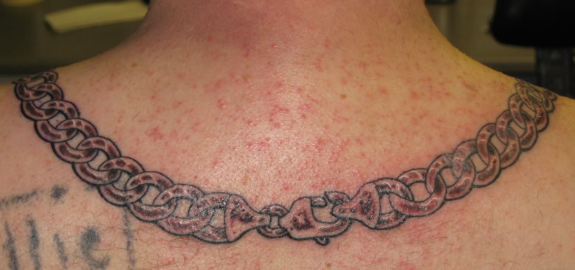 Neck Chain Tattoo Images Designs