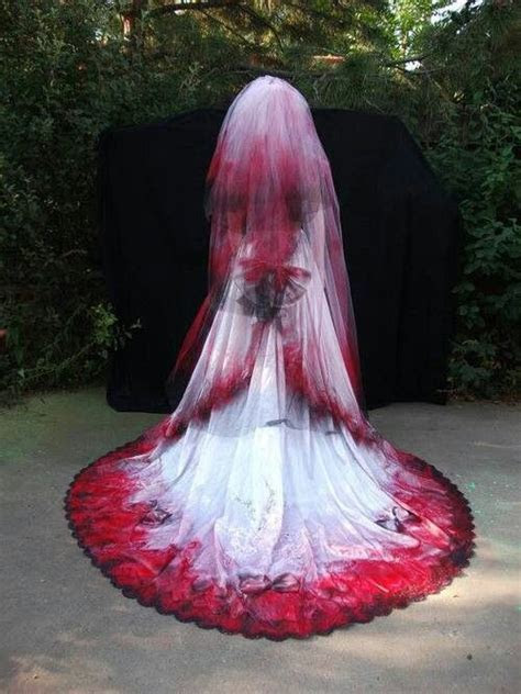 Gothic Red Detailed Wedding Dress. Its preettty kickass