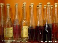 bottles of schnaps