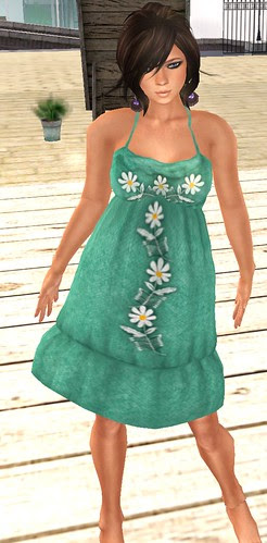 Project Themeory Shag Wish you were here and Miu Malibu evergreen dress