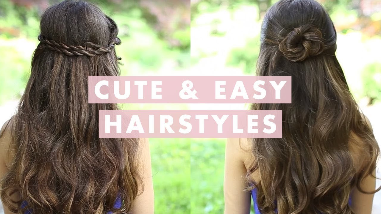 Cute Easy Fast Hairstyles Best Of Quick For School Long Hair All Style