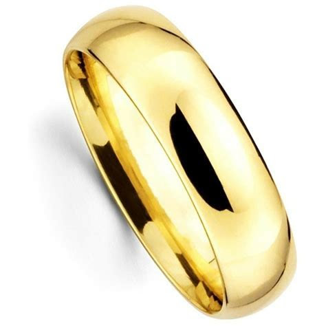 Men's Women's Solid 14K Yellow Gold Plain Wedding Ring