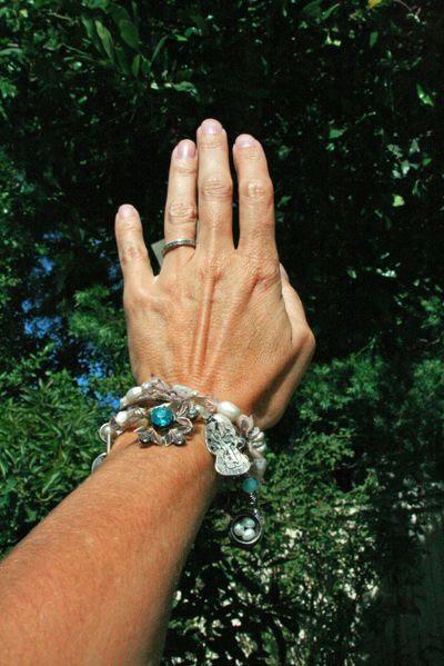 Cover bracelet worn