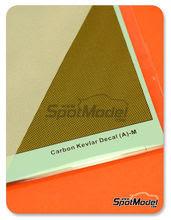 Calcas  Hobby Design - Fibra kevlar cuadrada con fondo dorado - Tamaño mediano - Tipo A
