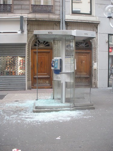 Telephone Booth destroyed