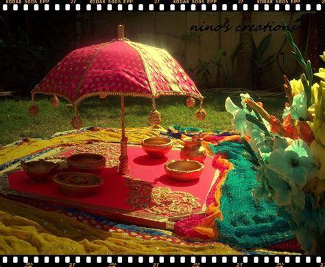 gotta mehndi thaal   mehendi thaals   Wedding decorations