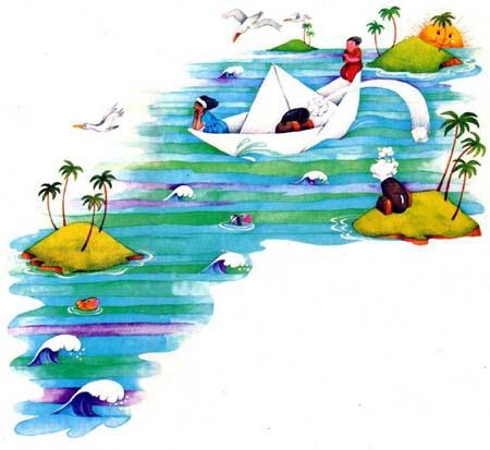 Por El Mar De Las Antillas Anda Un Barco De Papel Imaginaria No