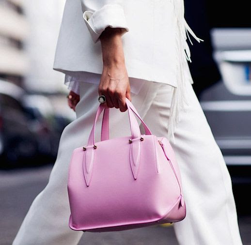 Le Fashion Blog Add Feminine Features With Best Pink Bags Shop Pink Bags Via Style Stalker