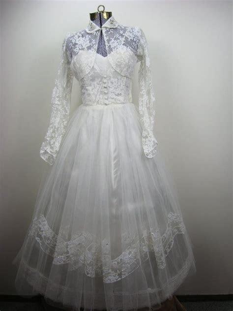 Vintage 1950s Wedding Dress   Steam Punk styled Wedding