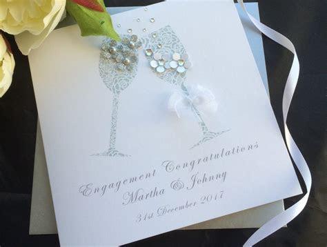 Handmade Engagement Card Champagne   Handmade Cards  Pink