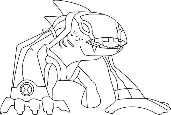 Articguana from Ben 10 Omniverse Coloring Page  Download \u0026 Print Online Coloring Pages for Free