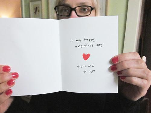 Panda Valentine's Day Card Inside