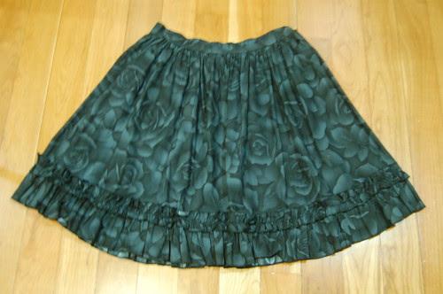 Lolita Closet Count! Skirts: Black - In the Starlight Rose Print