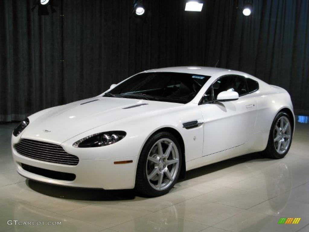 2007 Metallic White Aston Martin V8 Vantage Coupe 14165110 Gtcarlot Com Car Color Galleries