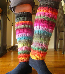 Noro leg warmers