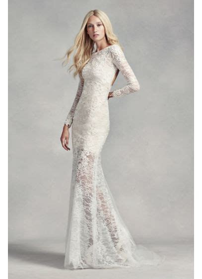 White by Vera Wang Lace and Beads Wedding Dress   David's