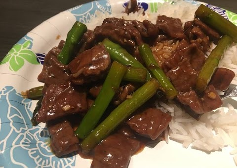 Recipe: Yummy Asian Beef and Asparagus