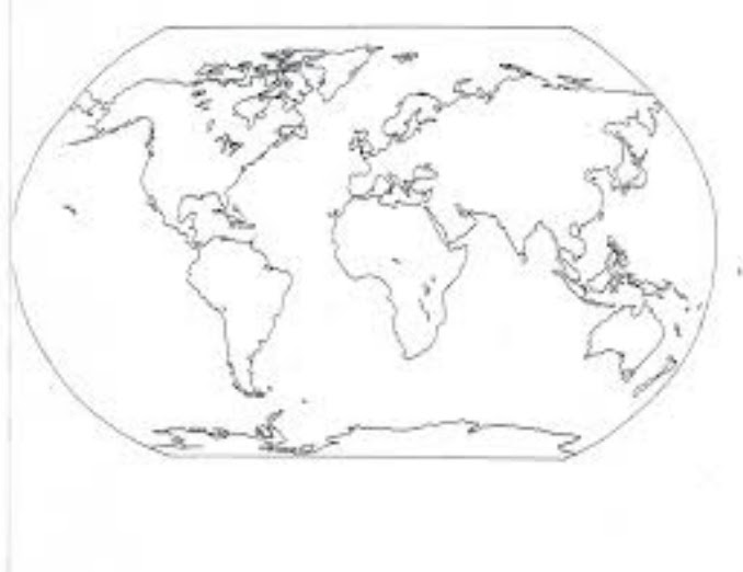 7 Continents 5 Oceans Blank Map – 02 seating plan