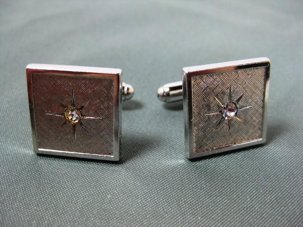 Vintage Anson Starburst Men's Cuff link Set