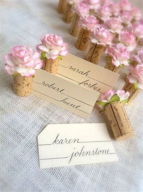 Rose place cards   Table ideas   Wedding place cards