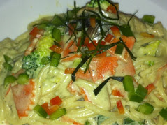 thai green curry spaghetti