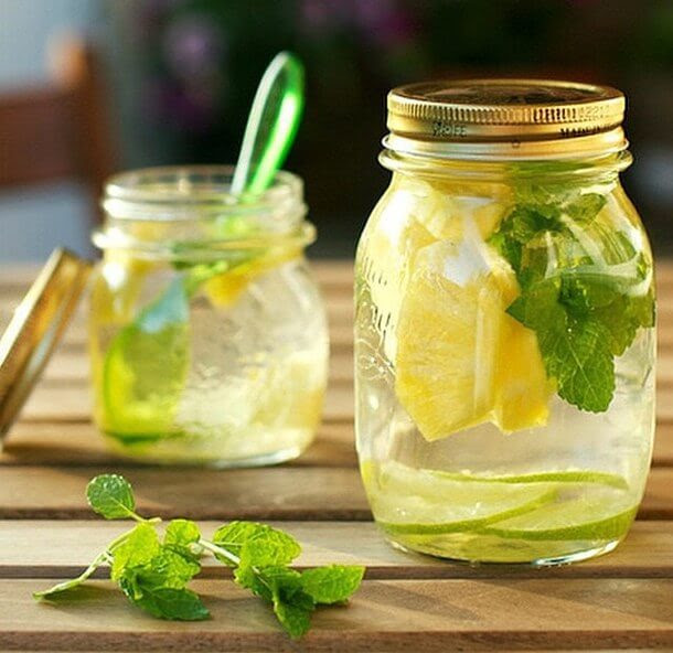 Image result for air detox lemon + daun pudina
