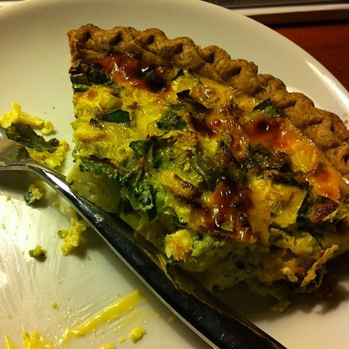 Quiche with Spinach, Brussels, & Broccoli #wfd