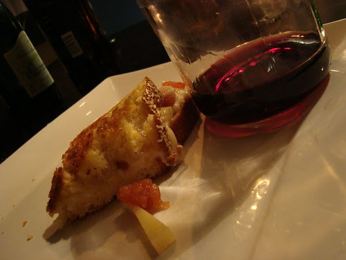Greek Grilled Cheese w Cabernet Sauvignon