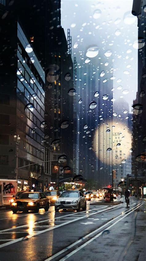 city rain iphone wallpaper   iphone wallpaper