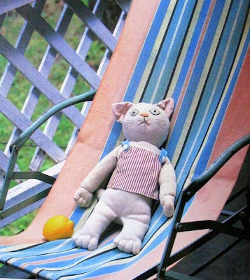 boneca pano gato