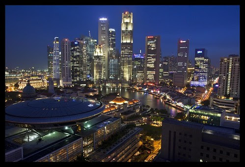 Flickr: Sheba_also - Singapore Business Centre at Dusk-1=