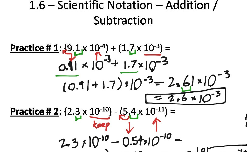 Nidecmege: Scientific Notation Worksheet Adding And Subtraction