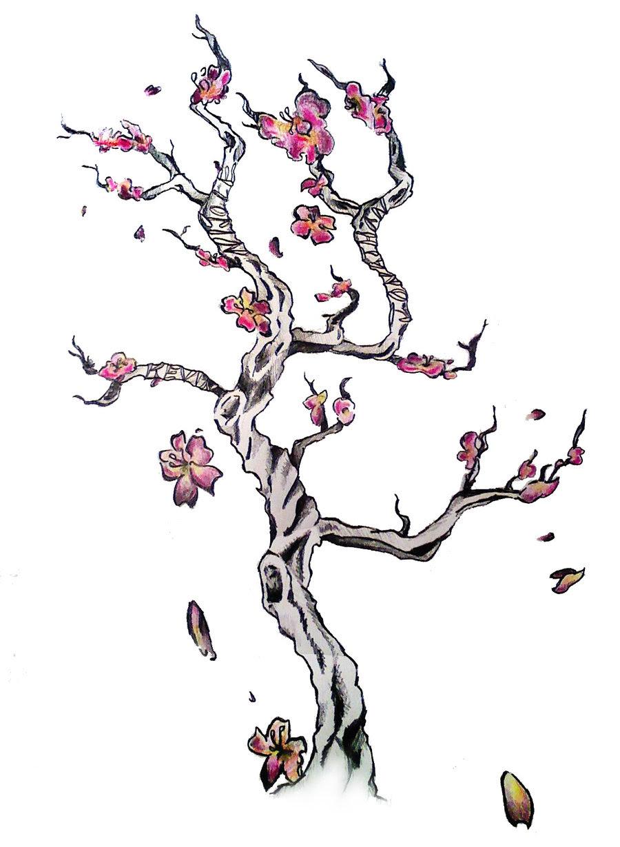 Cherry Blossom Tree Tattoo Design