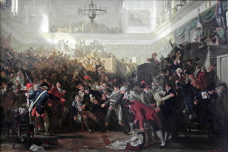 Painting of Robespierre's Arrest by Max Adamo, 1870