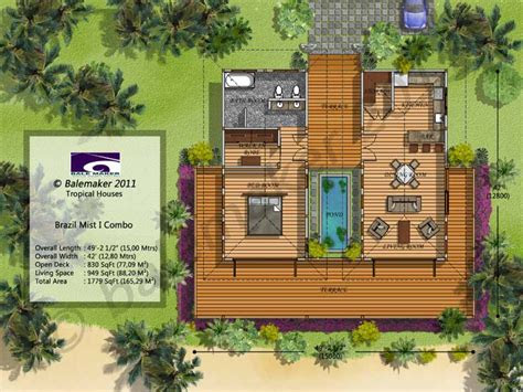 tropical small house plans modern tropical house design