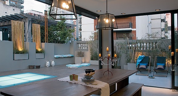 Aire libre urbano el lujo en su justa medida tecno haus for Barras para exterior jardin