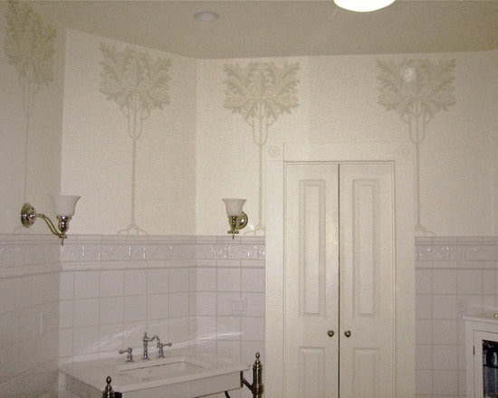 Victorian bathroom with Art Nouveau decoration