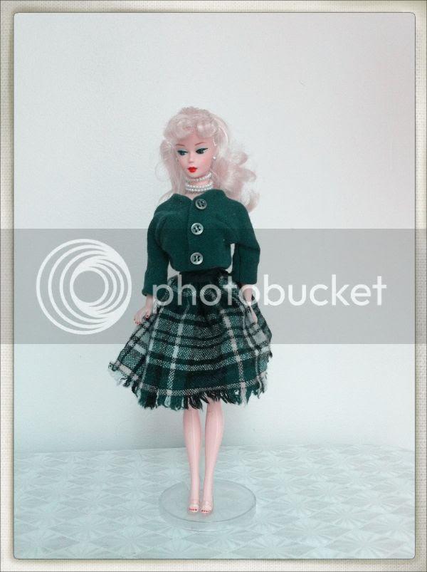 vintage barbie kilt plaid skirt autumn