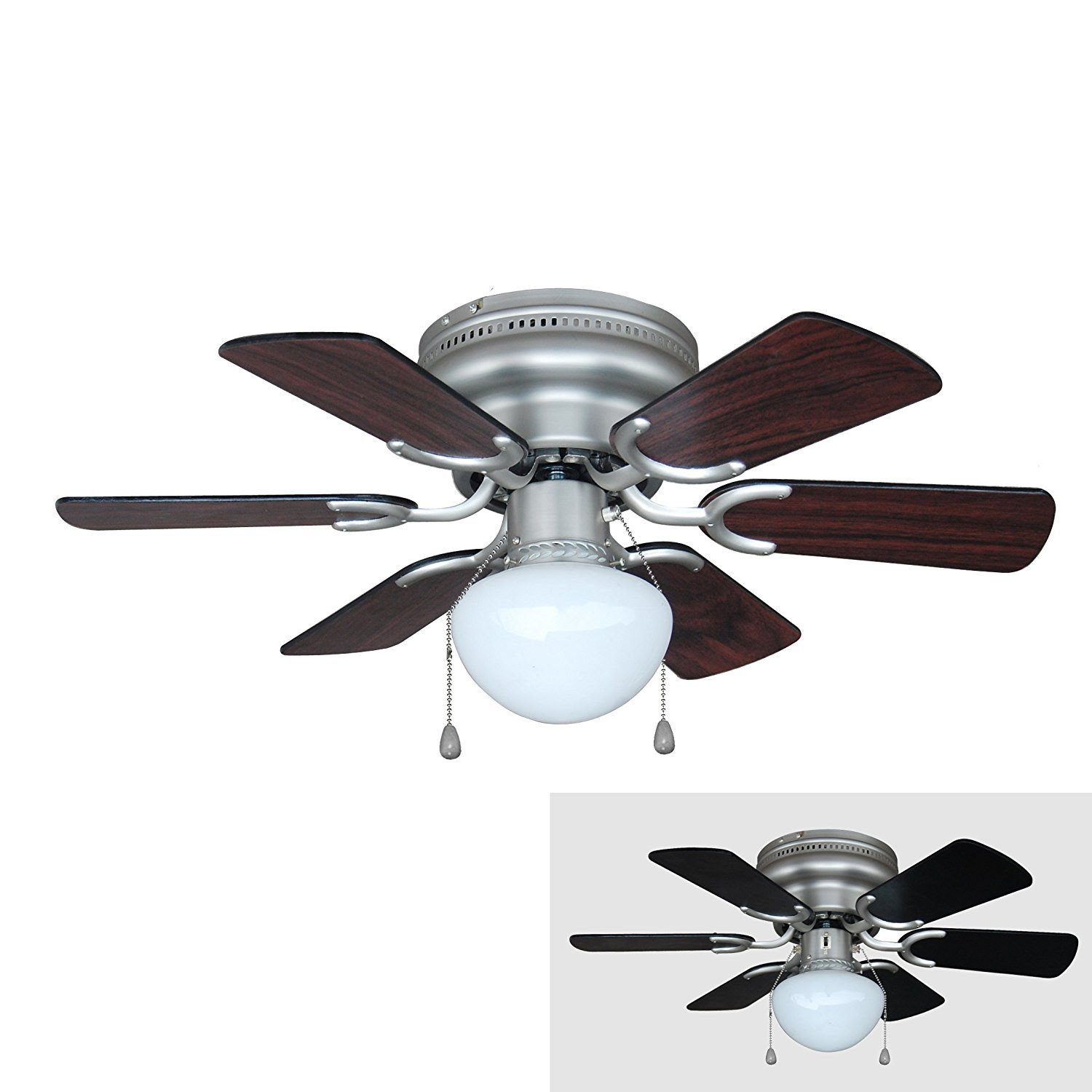 Black Ceiling Fan with Light – Elegance Look with Great ...