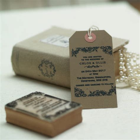 personalised wedding invitation stamp lace design by