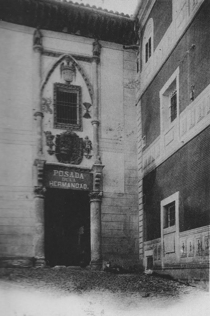 Posada de la Hermandad hacia 1900. Foto Kaulak (Cánovas)