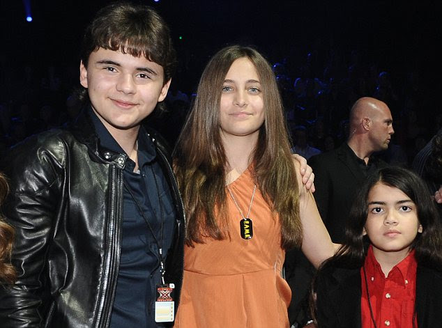 Defiant: Prince, Paris and Blanket Jackson refused to leave the house with their aunt and uncles