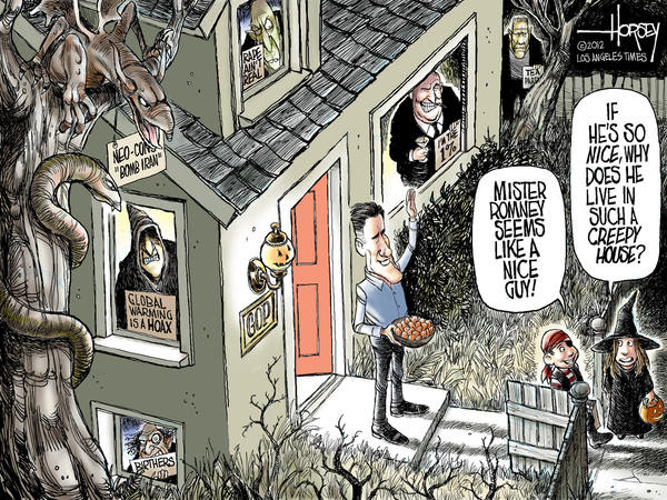 Mitt Romney's Halloween house of GOP horrors