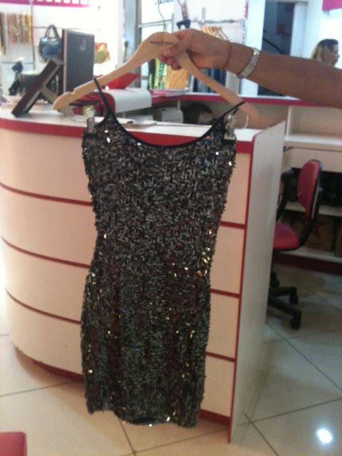 Vestido cai por menos da metade do preço (Foto: Tatiana Maria Dourado/G1)