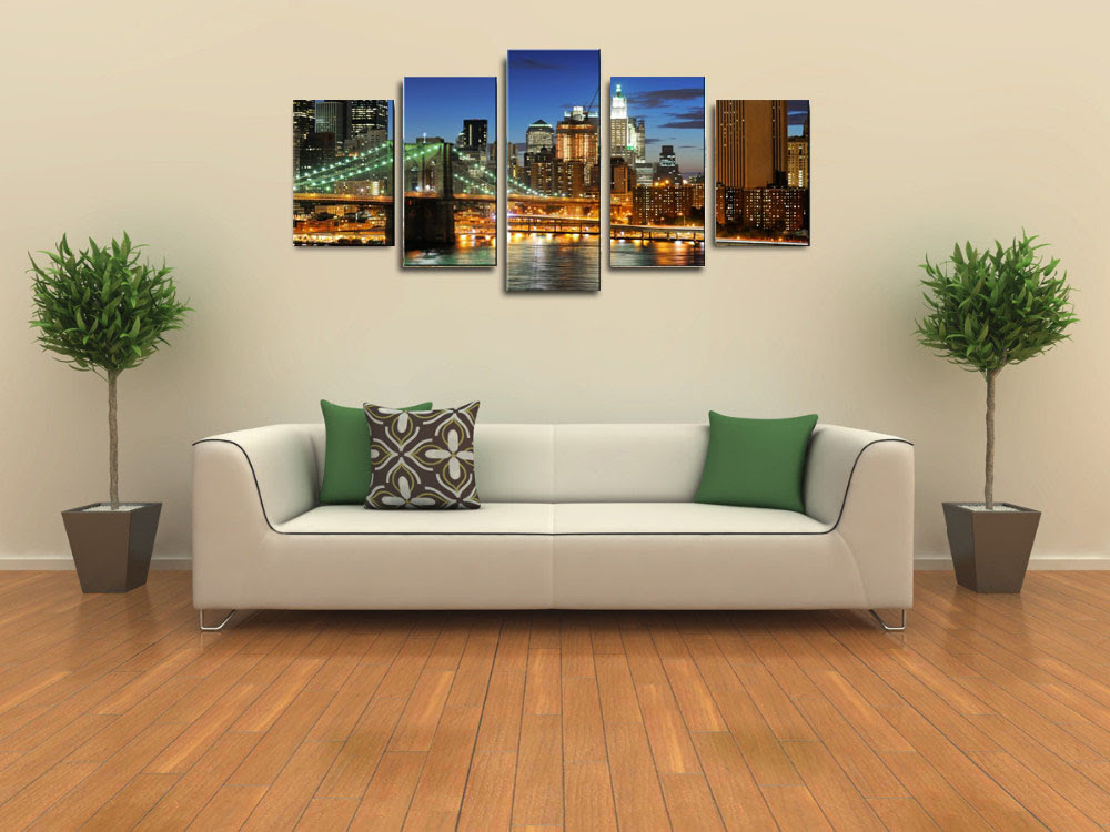 Modern-City-Canvas-Wall-Art-Painting-For-Living-Room-Large ...