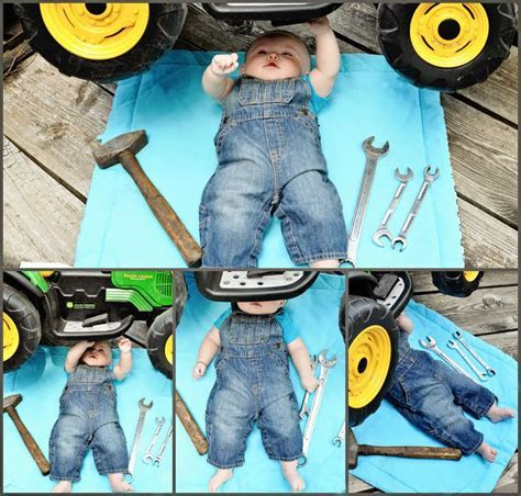 New Ideas For New Born Baby Photography : 5 month baby boy