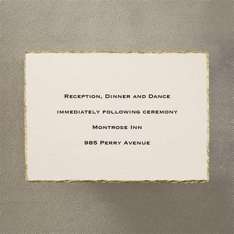 Gold on Cream Deckle Edge Additional Card/s   Little Flamingo
