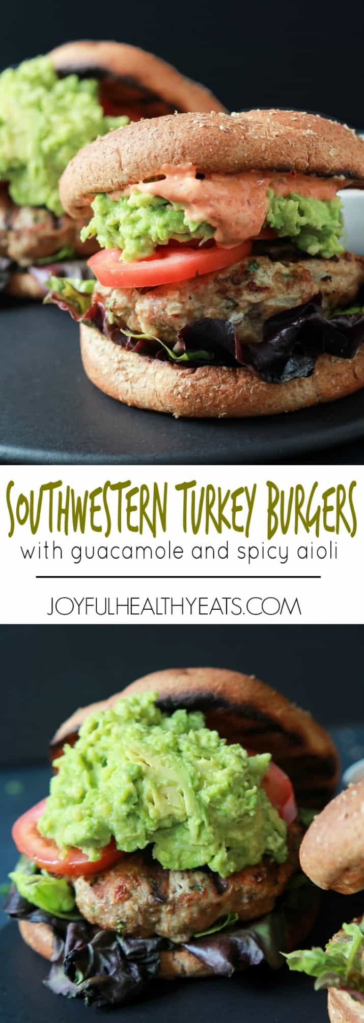 Southwestern Turkey Burgers with Guacamole and Spicy Aioli ...